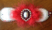 Lifetime Baseball Corsage in Red Black and White