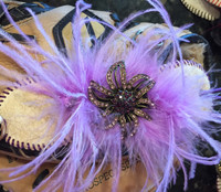 Lifetime Baseball Corsage in Lavender Bling and Feathers