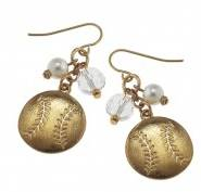 Baseball Cluster Earrings