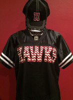 Hawk Jersey with Chevron Glitter