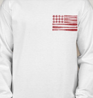 Heath Hawks Baseball Flag Tee/Fleece