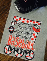Cleat Findn' Cooler Totin' Umpire Bashin' Team Cheerin'! Baseball Mom Tee