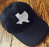 State of Texas Embroidered Ball Cap with Bling