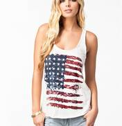 Fourth Of July Flag Sublimation Tank