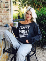 I Speak Fluent Baseball Raw Edge Pocket Fleece