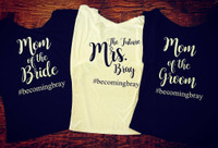 SET OF 3 Custom Wedding Party Tees