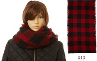 Red and Black Buffalo Print Infinity Scarf