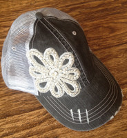 Blinged Applique Mega Cap