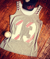 Stitches Tank with number