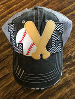 Baseball LOVE Appliqued Mega Cap