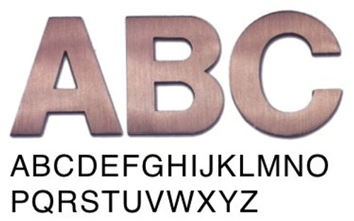 Helvetica metal building letters for Helvetica letter stencils