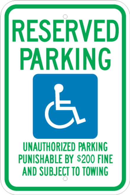 Allstate Sign And Plaque >> Tennessee Handicapped Sign
