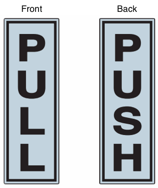 Push Pull Signs Amp Door Decals For Sale Allstate Sign