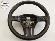 2011-2014 VOLKSWAGEN TOUAREG FRONT LEFT STEERING WHEEL W/ SWITCH LEATHER OEM