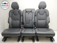 2016-2018 VOLVO XC90 T5 REAR SECOND ROW SEAT W/ HEADREST LEATHER SET OF 3 OEM