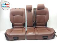 BMW 535I F07 3.0L REAR SECOND ROW SEAT SET-3 SEATS W/O CENTER CONSOLE OEM
