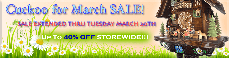cuckoo for march sale