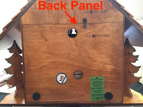 Coocoo clock back panel