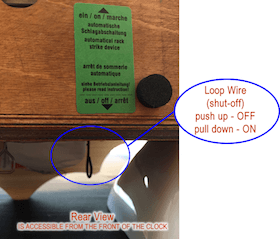 Coo coo Clock shut-off switch
