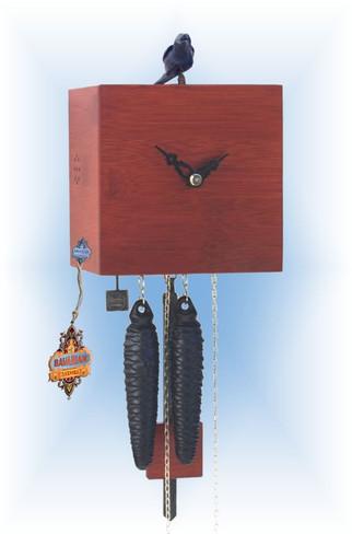 Rombach & Haas   bb11-3   7''H   Freebird 1 Red   Modern   cuckoo clock   full view