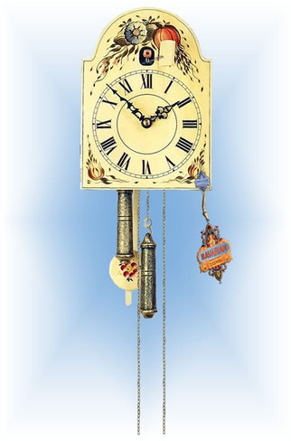 Rombach & Haas | 1270 | 9''H | Flowering Harvest | Shield style | painted clock | full view