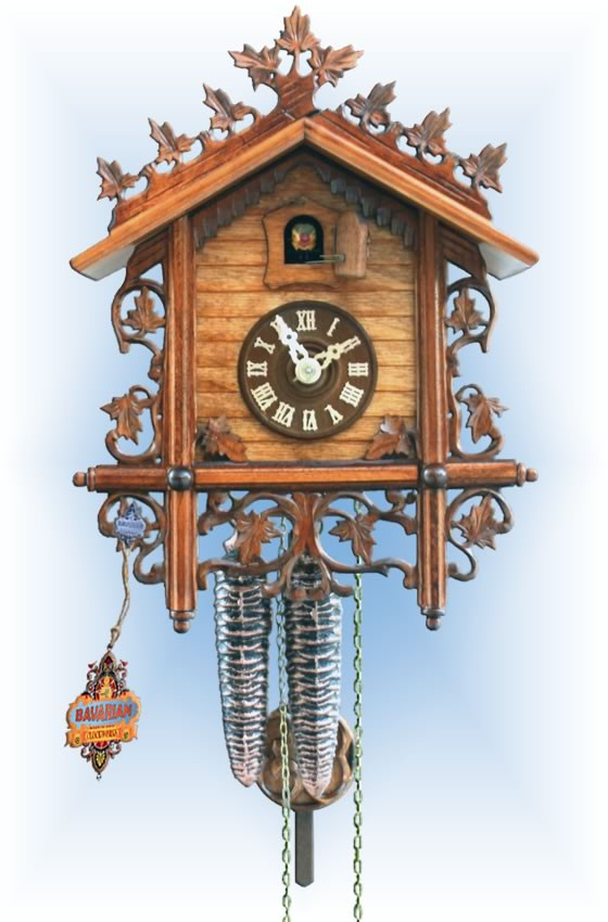 Rombach & Haas | 1121 | 11''H | Railhouse Repro | Vintage | cuckoo clock | full view