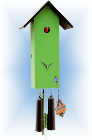 Rombach & Haas | sl15-4 | 16''H | Simple Line 4 | Modern | cuckoo clock | full view