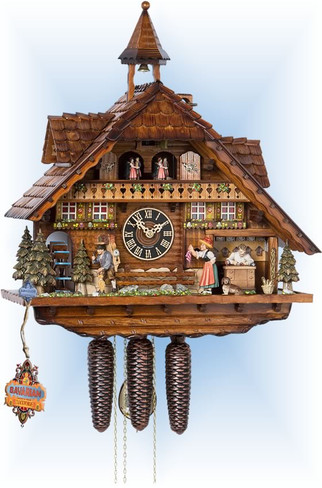 Hones | 86206t | 22''H | Herr Clockmaker | Chalet style | cuckoo clock