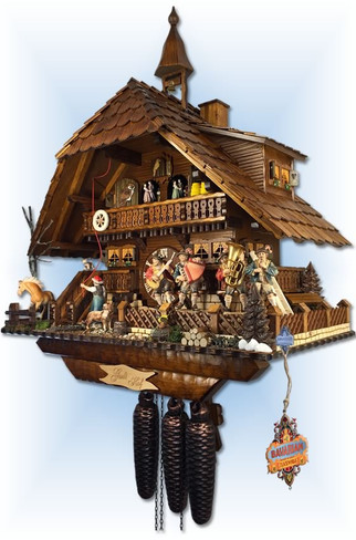 August Schwer | 5.8875.01.p | 23''H | Gutshof Estate | Chalet style | cuckoo clock | right view