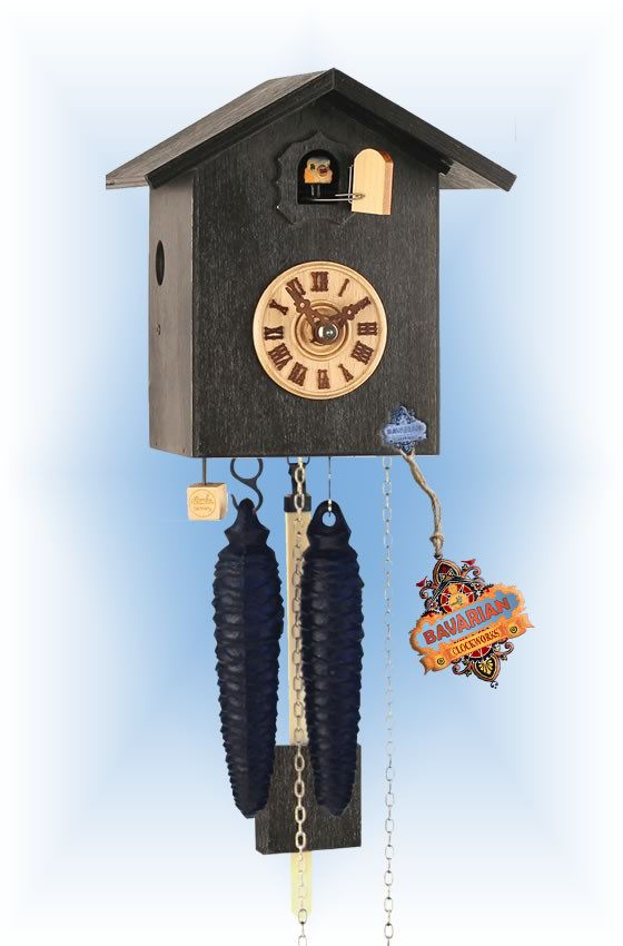 Rombach & Haas | sk12-2 | 7''H | Simple Bird 2 | Modern | cuckoo clock | full view