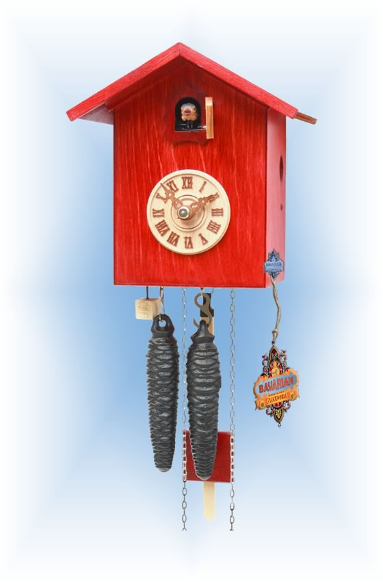 Rombach & Haas | sk12-3 | 7''H | Simple Bird 3 | Modern | cuckoo clock | full view