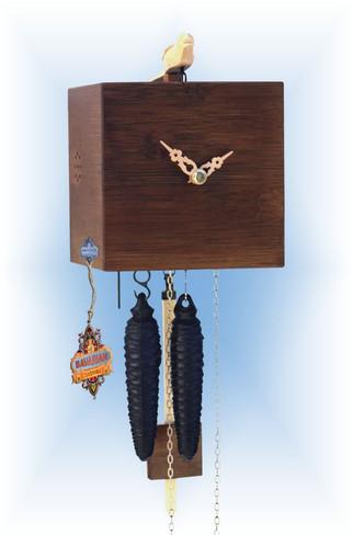 Rombach & Haas   bb11-10   7''H   Freebird 1 Walnut   Modern   cuckoo clock   full view