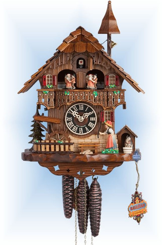 Hones | 6777t | 15''H | Bell Tower | Chalet style | cuckoo clock | full view