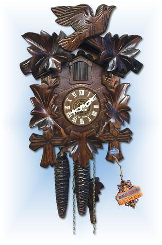 Sternreiter   1200   9''H   Leaf & Bird   Traditional   cuckoo clock   full view