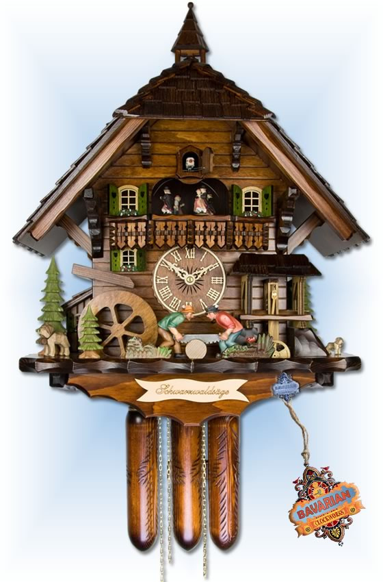 adolf herr black forest saw mill cuckoo clock 22 bavarian clockworks