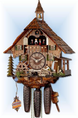 Forest Farmhouse cuckoo clock by Hekas | Chalet | 6C8-3683/8 | full