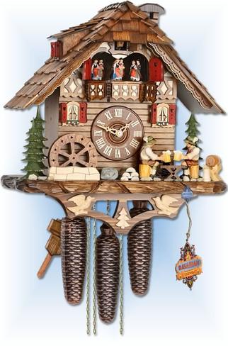 Drinkers Chalet cuckoo clock by Hekas | Chalet | 6C8-3729/8 | full