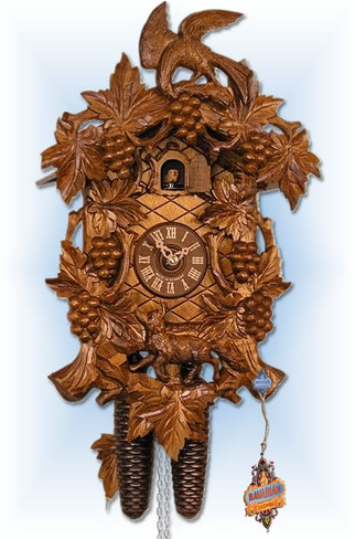 Adolf-Herr | 621/1-8T | 21''H | Fox Vineyard II | Traditional | cuckoo clock | full view