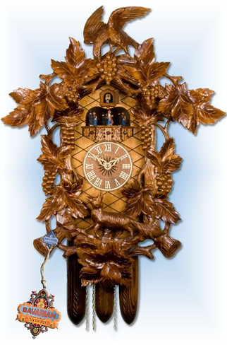 Adolf-Herr | 621/1 | 24''H | Fox Vineyard | Traditional | cuckoo clock | full view