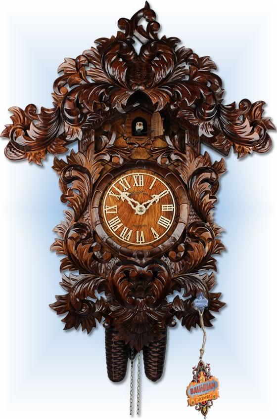 Adolf Herr Baroque cuckoo clock 21 Bavarian Clockworks