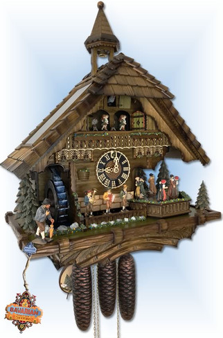 Real Running Water Cuckoo Clock by Hones - Left
