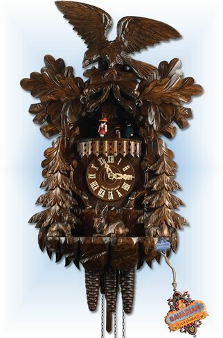 August Schwer | 4.6511.01.P | 17''H | Eagle Rabbit | 1 Day | traditional cuckoo clocks |
