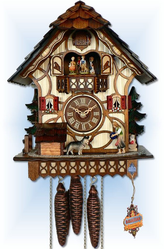 Anton Schneider 1 Day Farm Play cuckoo clock - Full View