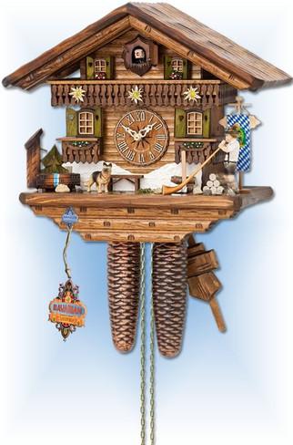Hekas | 874 | 14 inch | Alpine Horn | Chalet | cuckoo clock | full view