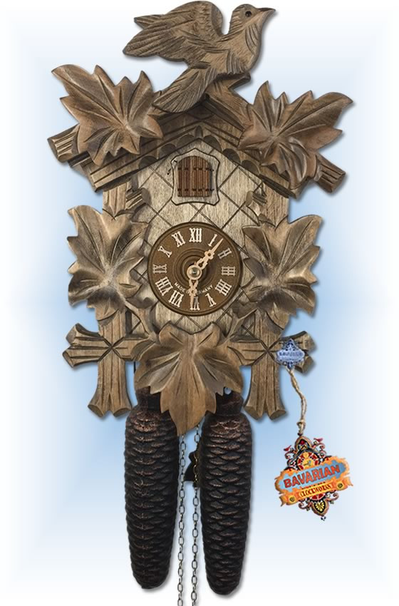 August Schwer | 2.0070.12.C | 11 inch | Natural Light  | Hand Carved | cuckoo clock | full view