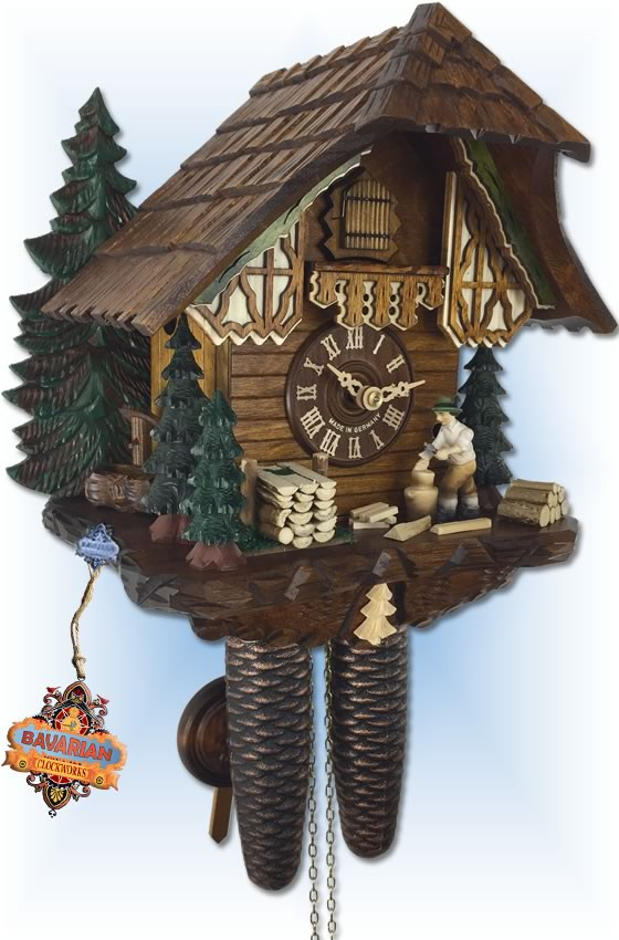 Schwer 2.0326.01.C Evergreen Cottage cuckoo clock-left