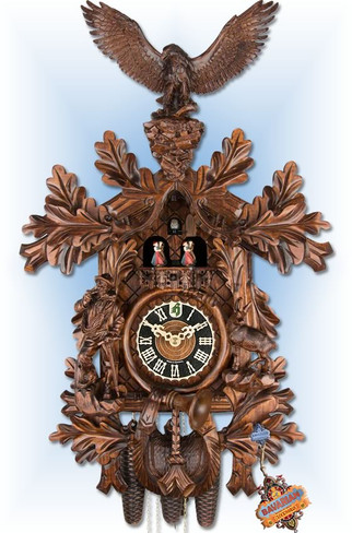 8 day Hunting Eagle 28'' cuckoo clock by Hones