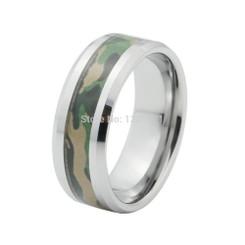 8mm Tungsten Carbide Camo Wedding Band