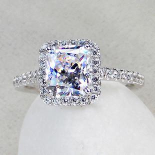 Simulated Diamond Engagement Wedding Ring Sizes 4 5 10 Image 1