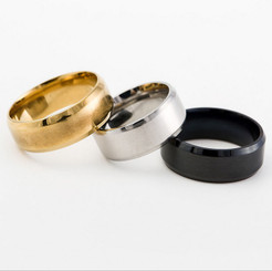 8mm Stainless Steel Wedding Band